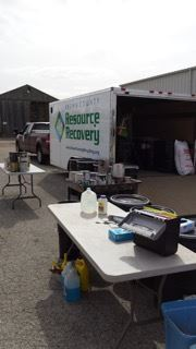 Resource Recovery Vehicle with cleaning products