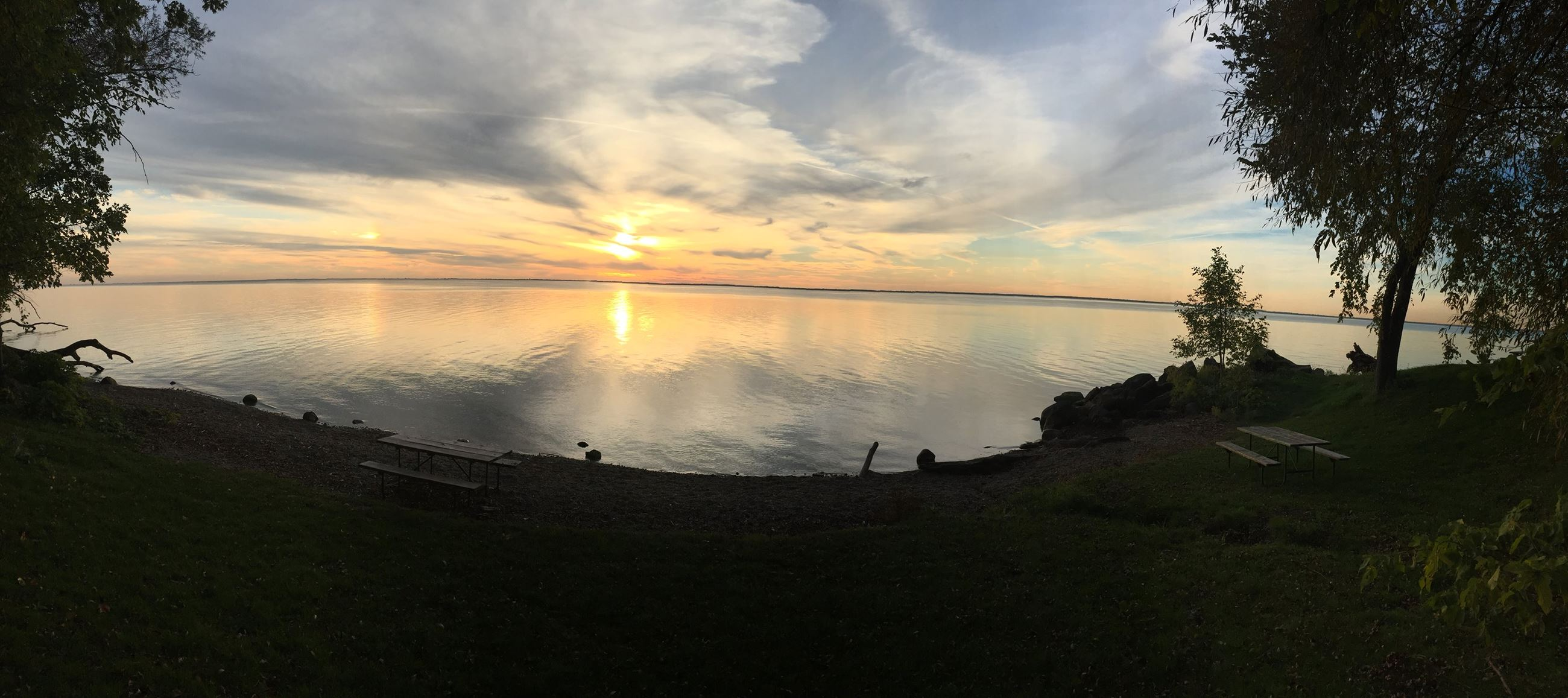 Sunset over Lake Winnebago.