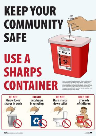 Keep Your Community Safe - Use a Sharps Container